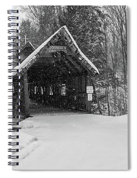Spiral Notebook featuring the photograph Loon Song Covered Bridge 3 by Heather Kenward