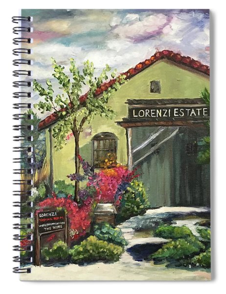 Lorenzi Estates Winery Spiral Notebook
