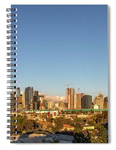 Los Angeles Skyline Looking East Panorama 2.9.19 Spiral Notebook