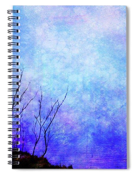 Lost In Blue Spiral Notebook