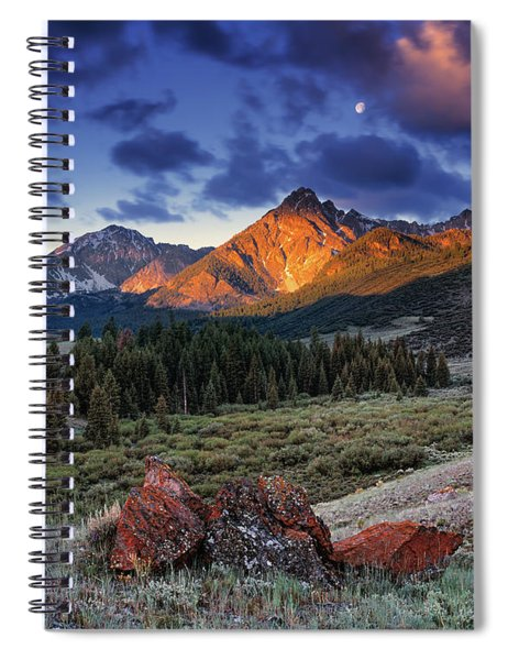 Lost River Mountains Moon Spiral Notebook