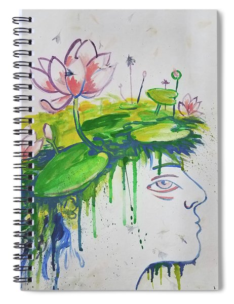 Lotus Head Spiral Notebook