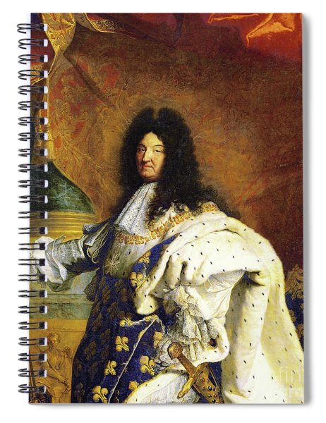 Louis Xiv In Royal Costume, 1701, Detail Spiral Notebook