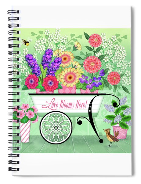 Love Blooms Here Spiral Notebook