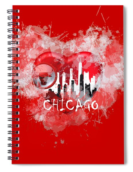 Love Chicago Colors Spiral Notebook