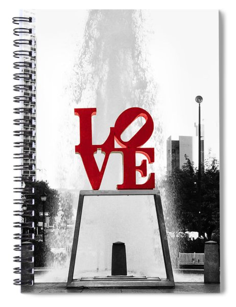 Love Is Black And White Spiral Notebook