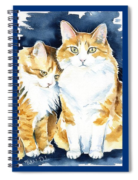 Love Me Meow Cat Painting Spiral Notebook