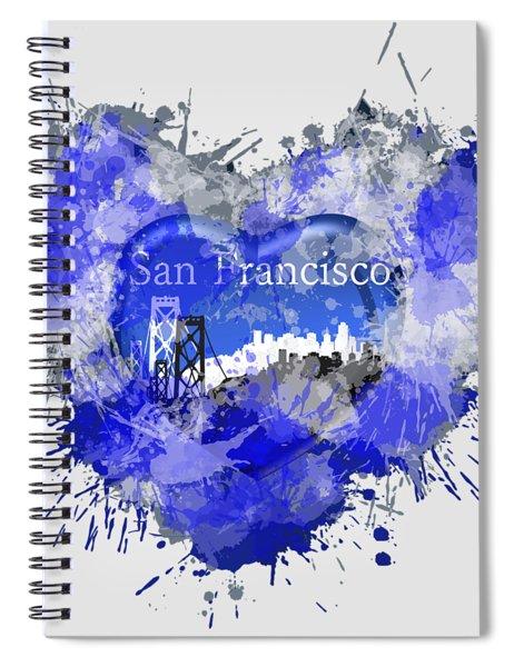 Love San Francisco Spiral Notebook