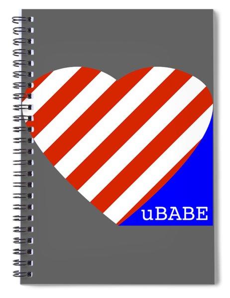 Love Ubabe America Spiral Notebook