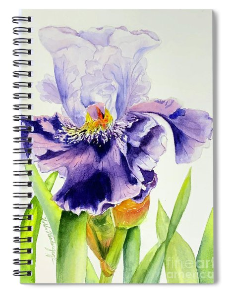 Lovely Iris Spiral Notebook