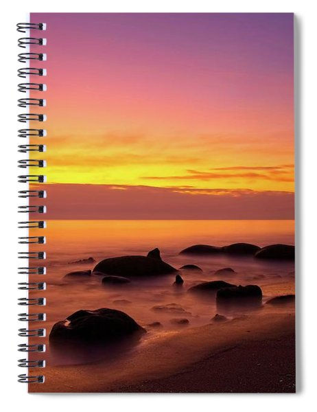 Low Tide Nautical Twilight Spiral Notebook