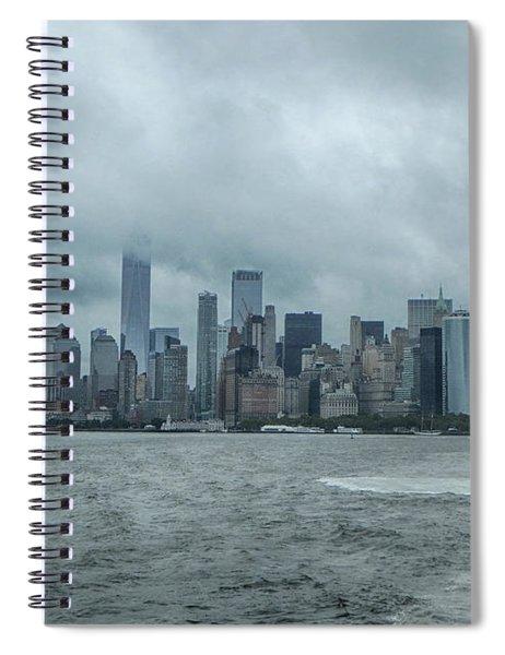 Lower Manhattan On 9/10/2018 Spiral Notebook