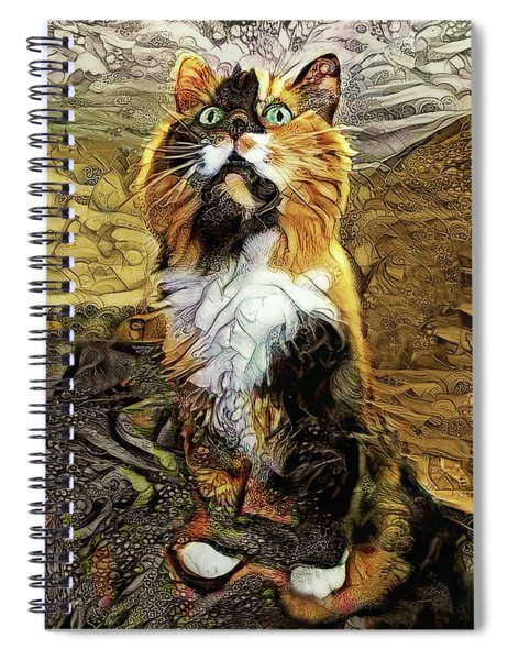 Lucky The Calico Cat Spiral Notebook