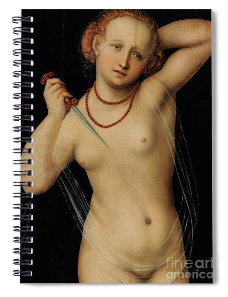 Lucretia By Lucas The Elder Cranach Spiral Notebook