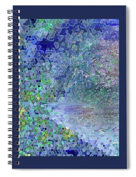 Luka Abstract 218 Blue Spiral Notebook