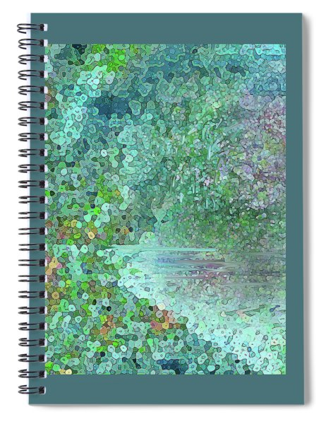 Luka Abstract 218 Emerald Spiral Notebook
