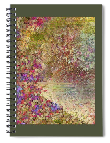 Luka Abstract 218 Gold Spiral Notebook