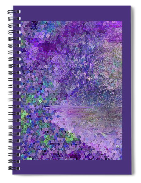 Luka Abstract 218 Purple Spiral Notebook