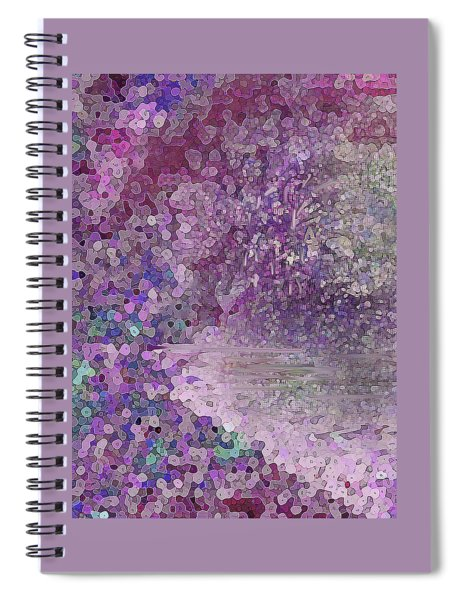 Luka Abstract 218 Rosy Pink Spiral Notebook