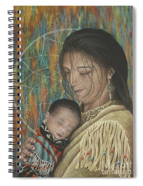 Lullaby Of Singing Wind Woman Spiral Notebook