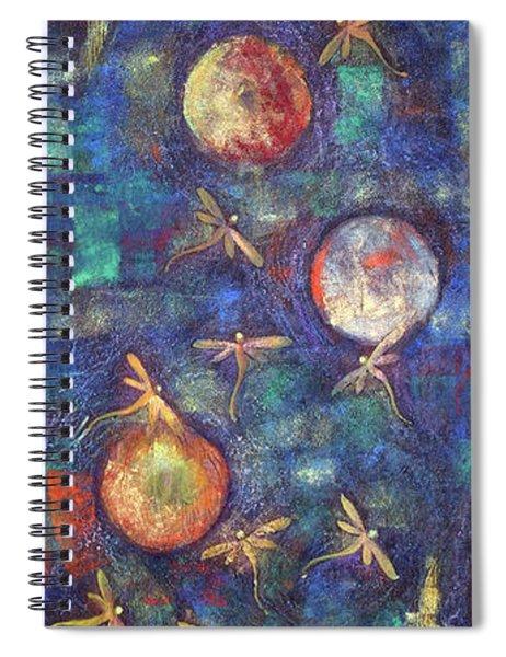 Luminous Dragonflies Spiral Notebook