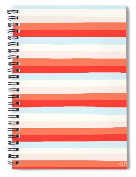 lumpy or bumpy lines abstract and colorful - QAB266 Spiral Notebook