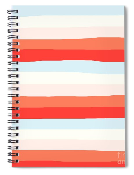 lumpy or bumpy lines abstract and colorful - QAB268 Spiral Notebook