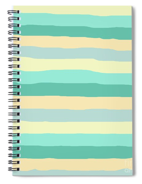 lumpy or bumpy lines abstract and summer colorful - QAB271 Spiral Notebook