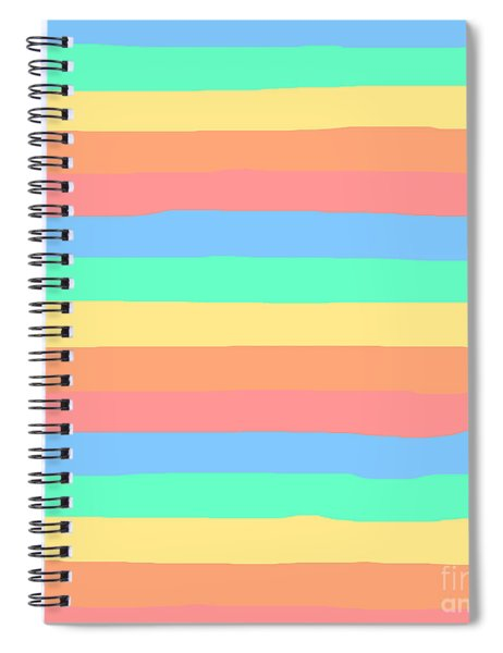 lumpy or bumpy lines abstract and summer colorful - QAB275 Spiral Notebook