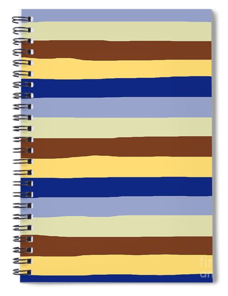 lumpy or bumpy lines abstract and summer colorful - QAB277 Spiral Notebook