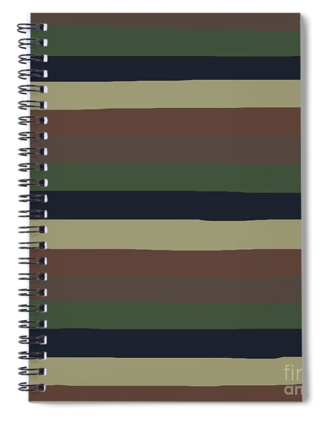 Army Color Style Lumpy Or Bumpy Lines - Qab279 Spiral Notebook