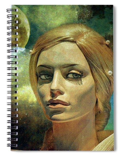 Luna In The Garden Of Evil Spiral Notebook