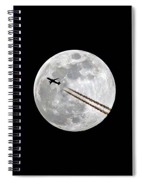 Lunar Photobomb Spiral Notebook