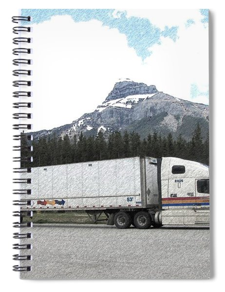 Lunch Break In Alberta Spiral Notebook