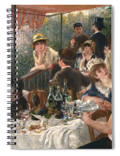 Luncheon Of The Boating Party, 1880-1881 Spiral Notebook
