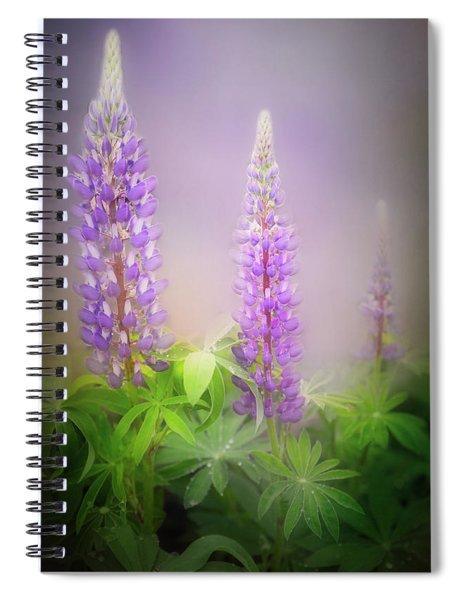 Lupine Flower Spiral Notebook