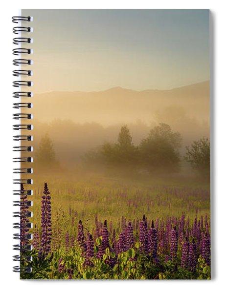 Lupine In The Fog, Sugar Hill, Nh Spiral Notebook