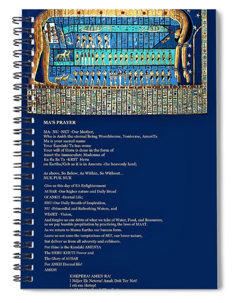 Ma Of Amenta Spiral Notebook