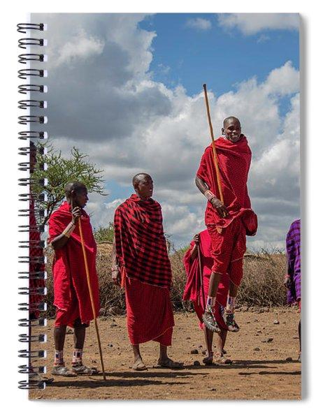 Maasai Adumu Spiral Notebook