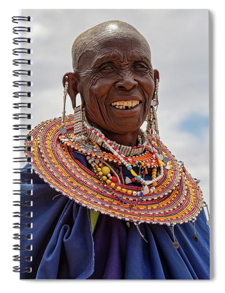 Maasai Woman In Tanzania Spiral Notebook