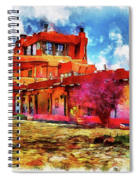 Mabel's Courtyard In Aquarelle Spiral Notebook