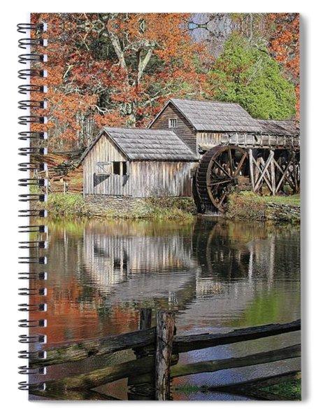 Mabry Mill On The Blue Ridge Parkway Spiral Notebook