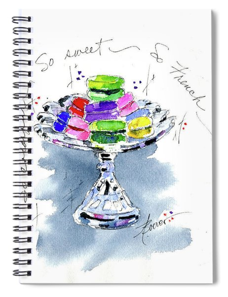 Macarons On Crystal Spiral Notebook