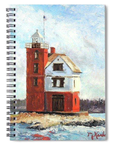 Mackinac Island Lighthouse Spiral Notebook