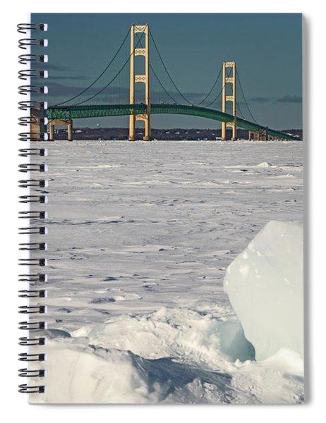 Mackinac Bridge Spiral Notebook