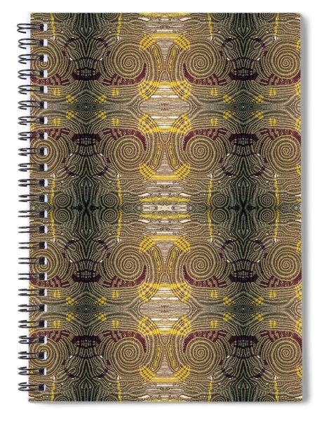 Macrame Spiral Nebula  Mirror 2 Spiral Notebook