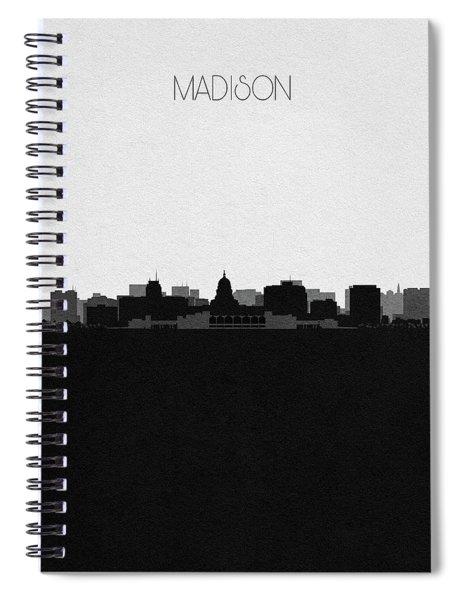 Madison Cityscape Art Spiral Notebook