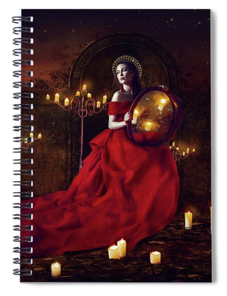 Madonna Of The Candles Spiral Notebook