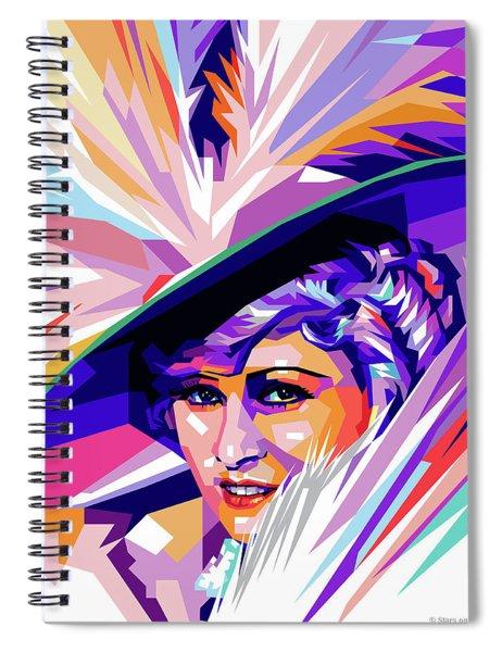 Mae West Pop Art Spiral Notebook