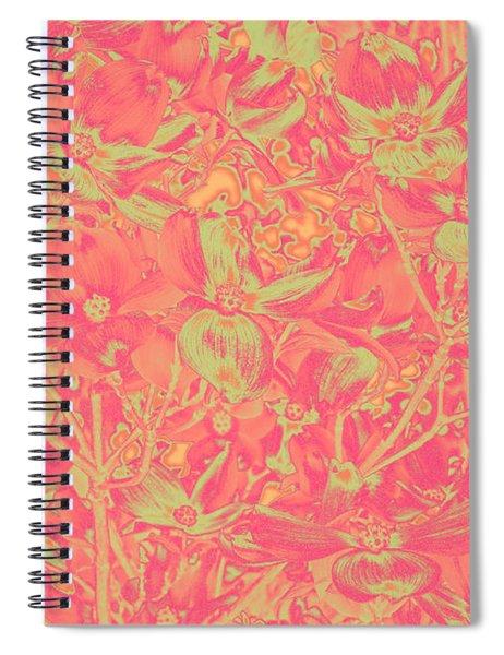 Magnolia Abstract Spiral Notebook by Mae Wertz